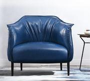 Кожаное дизайнерское кресло-улитка,терракотовое, 850*770