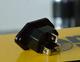Сетевой коннектор iEgo Power, AC-01 Ag-Rh (BK)