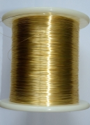 Провод монокристаллическое серебро 99,992%, позолоченный (5N OCC  Single Crystal Silver Wire Gold Plated), диаметр 0,5 мм